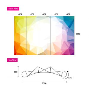 Pop Up Display 3x3 Curve